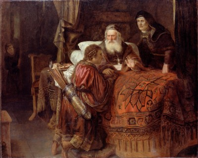 Horst,_Gerrit_Willemsz._-_Isaac_blessing_Jacob_-_Google_Art_Project