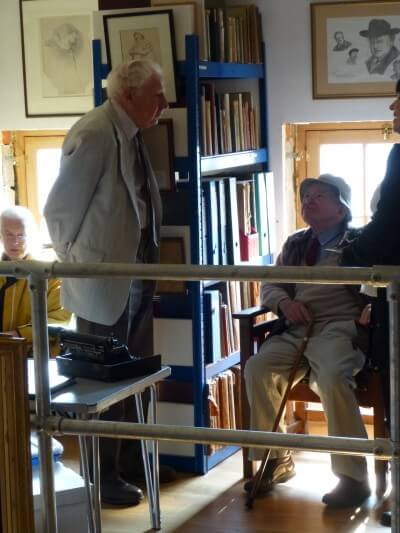 Colin Dexter in LIbrary, 1