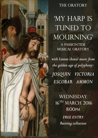 Passiontide Musical Oratory Poster