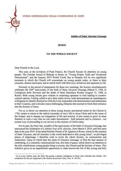 Lettera del Generale