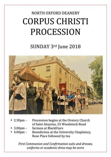 Corpus Christi Poster 2018