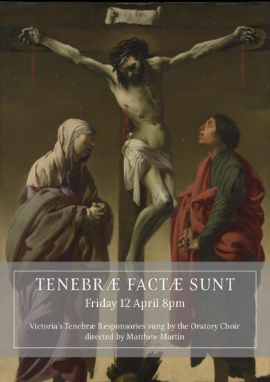 Passiontide Musical Oratory Poster 2019